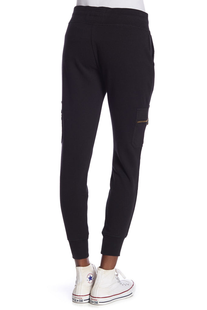 Yieldings Discount Clothing Store's Cargo Zip Jogger by True Religion in Black