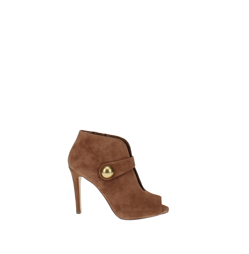Yieldings Discount Shoes Store's Agnes Open Toe Shooties by MICHAEL Michael Kors in Dark Camel