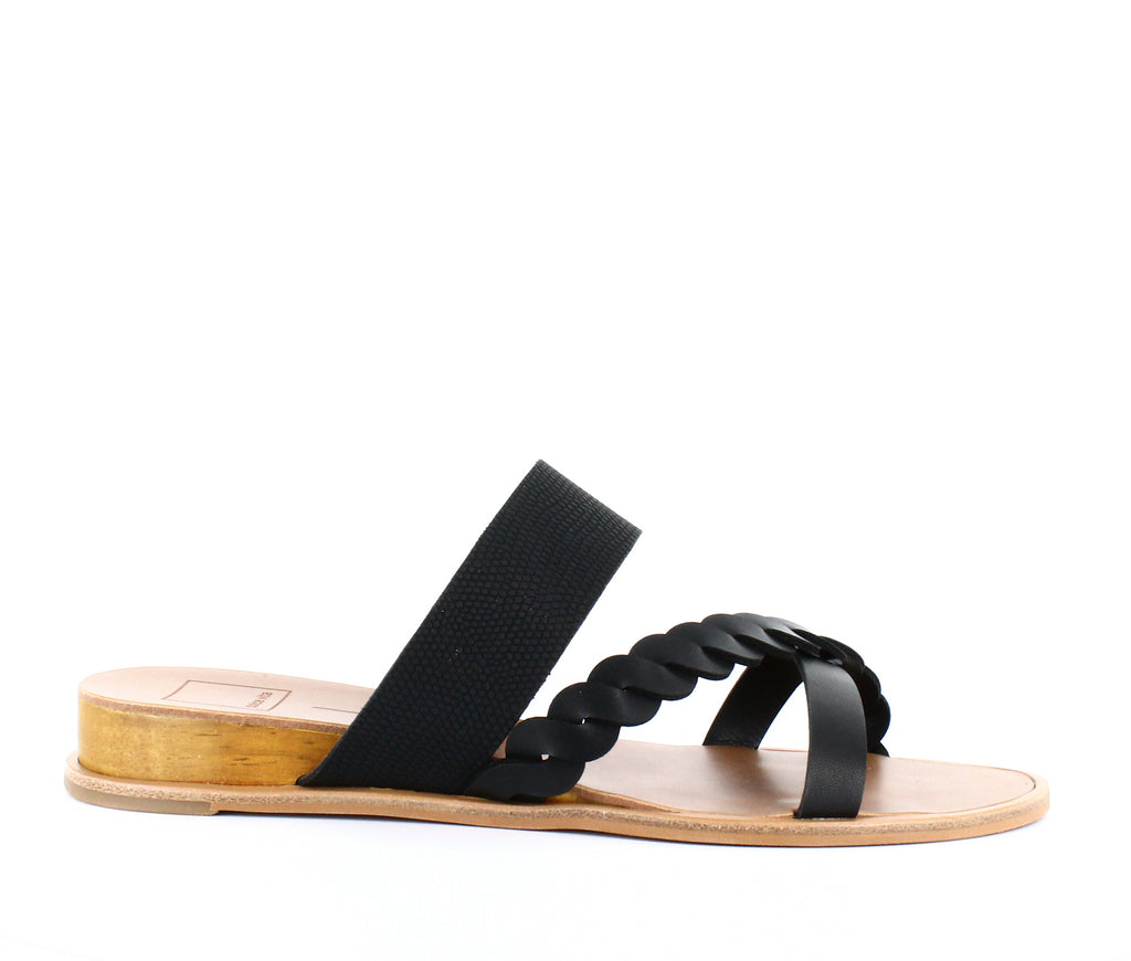 Yieldings Discount Shoes Store's Penelope Flat Sandals by Dolce Vita in Black