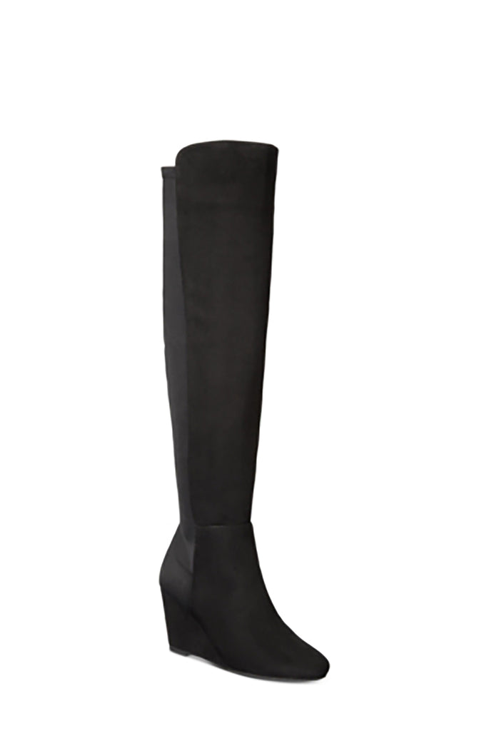 Yieldings Discount Shoes Store's Heide Tall Wedge Boots by Zigi Soho in Black