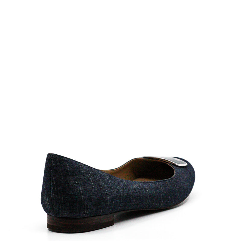 Yieldings Discount Shoes Store's Carmen III Flats by Ralph Lauren in Blue