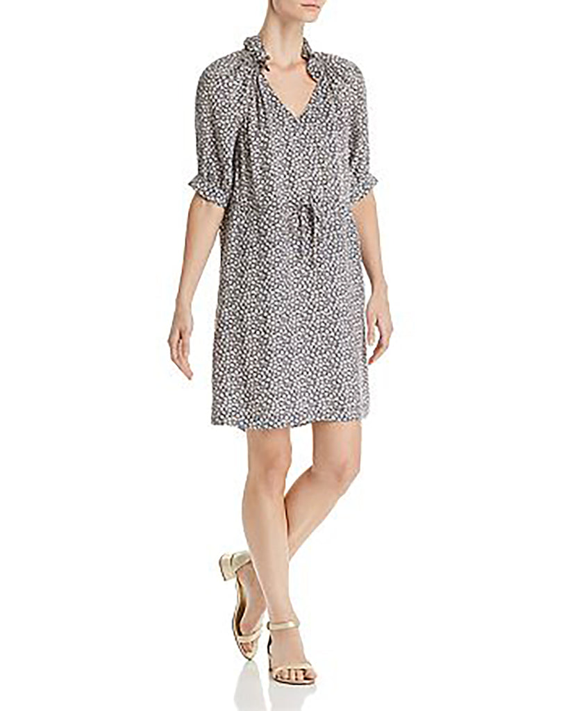 Yieldings Discount Clothing Store's Lauren Floral Silk Dress by Rebecca Taylor in Blueberry Combo