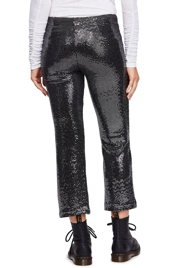 Yieldings Discount Clothing Store's Shine On Trousers by Free People in Black Combo