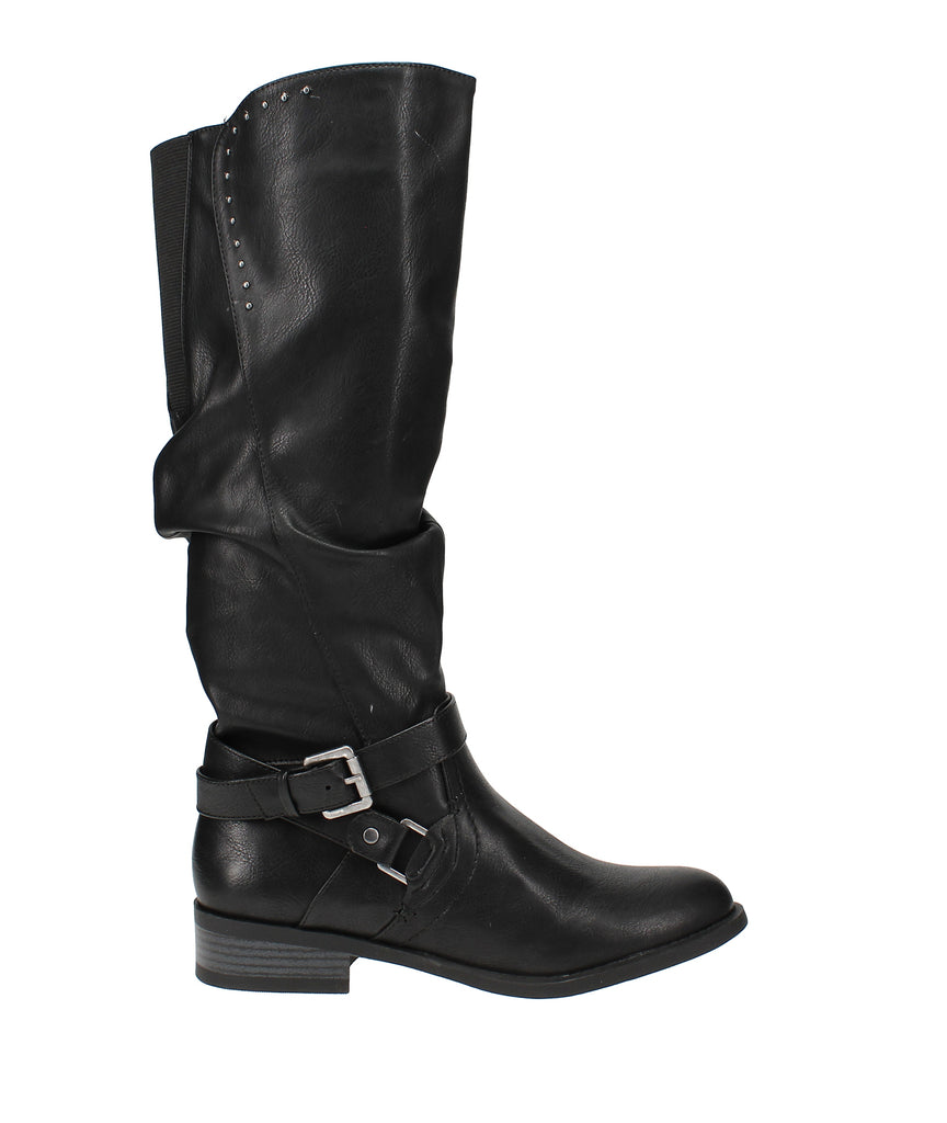 Yieldings Discount Shoes Store's Liona Riding Boots by White Mountain in Black