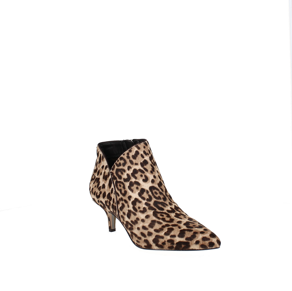 Yieldings Discount Shoes Store's Kadison Kitten-Heel Booties by Sam Edelman in Sand Leopard