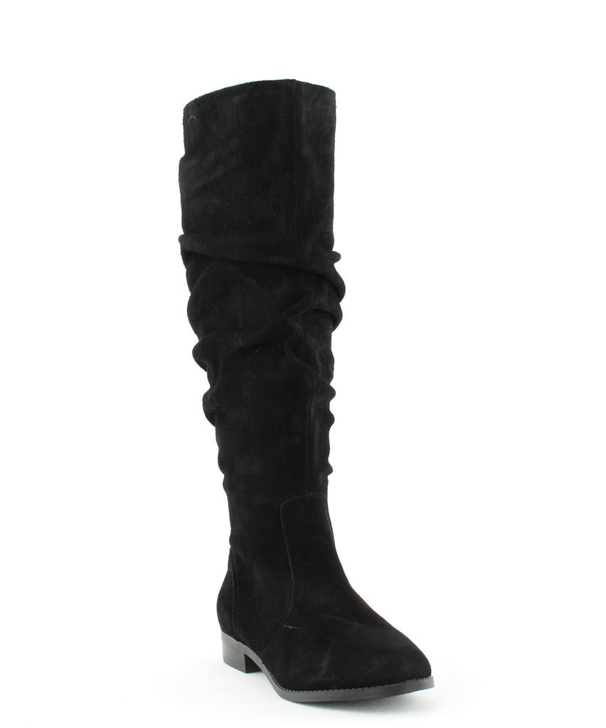 Yieldings Discount Shoes Store's Beacon Over The Knee Boots by Steve Madden in Black Suede