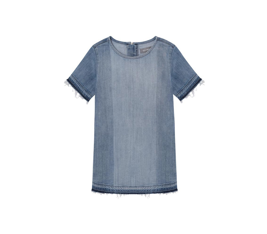 Yieldings Discount Clothing Store's Kiki - Short Sleeve Dress by DL1961 in Blue Coast