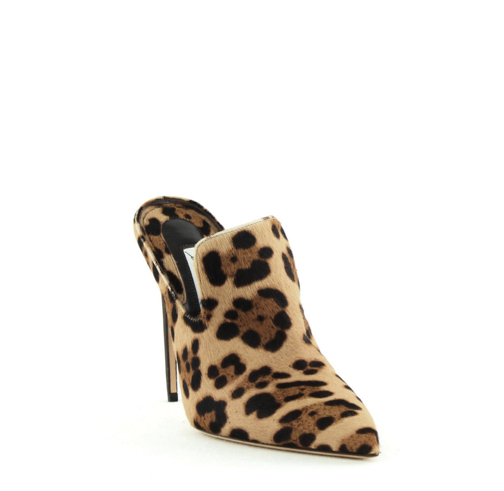 Yieldings Discount Shoes Store's Liason High-Heel Mules by Brian Atwood in Leopard