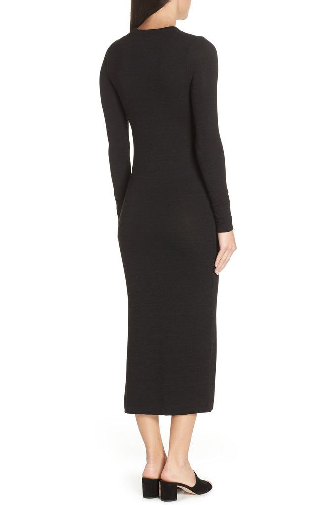 Yieldings Discount Clothing Store's Sweeter Sweater Maxi Dress by French Connection in Black