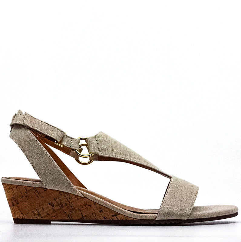 Aerosoles | Creme Brulee Fabric Wedge Sandals