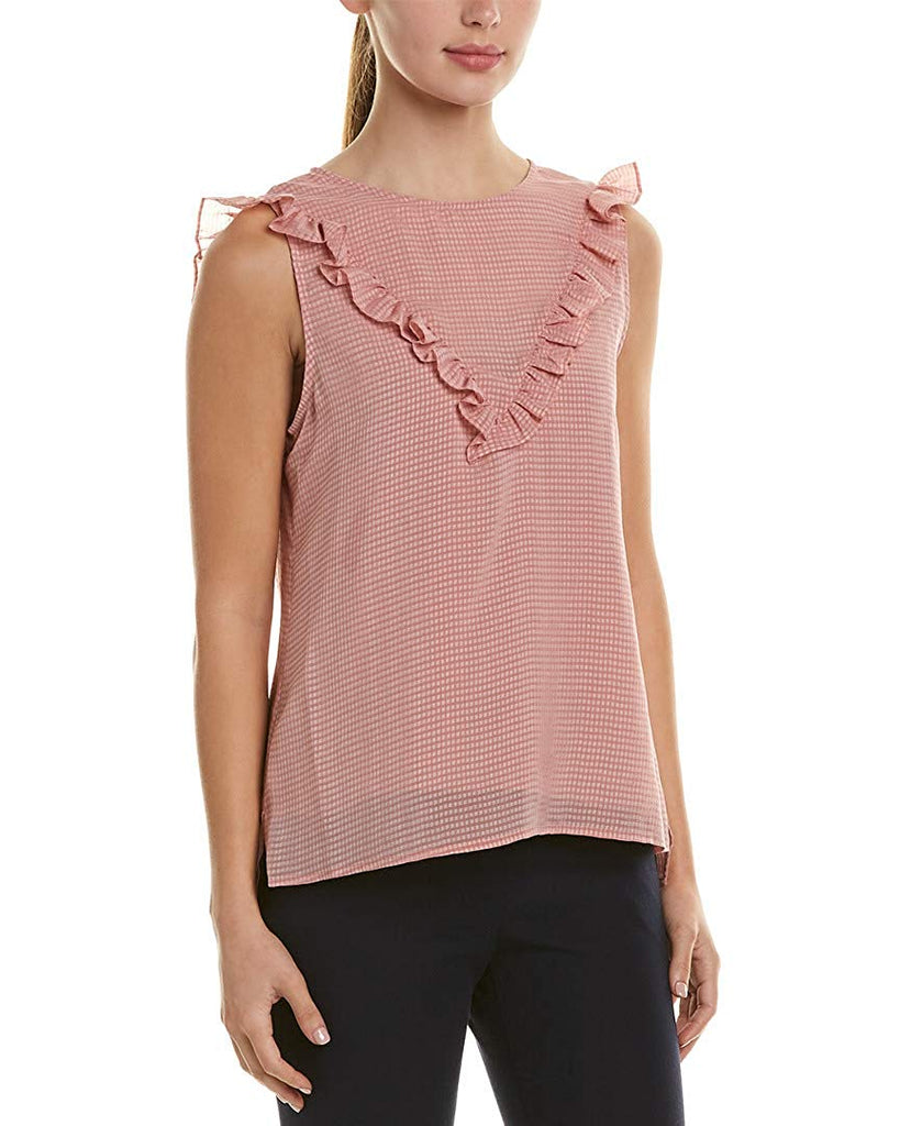 Yieldings Discount Clothing Store's Boy Meets Girl Ruched Tank Top by 1.State in Maple Blush