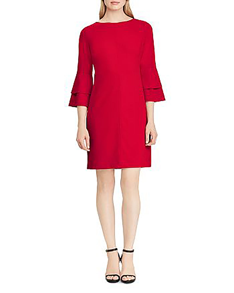 Yieldings Discount Clothing Store's Lisha Crepe Mini Cocktail Dress by Lauren by Ralph Lauren in Red