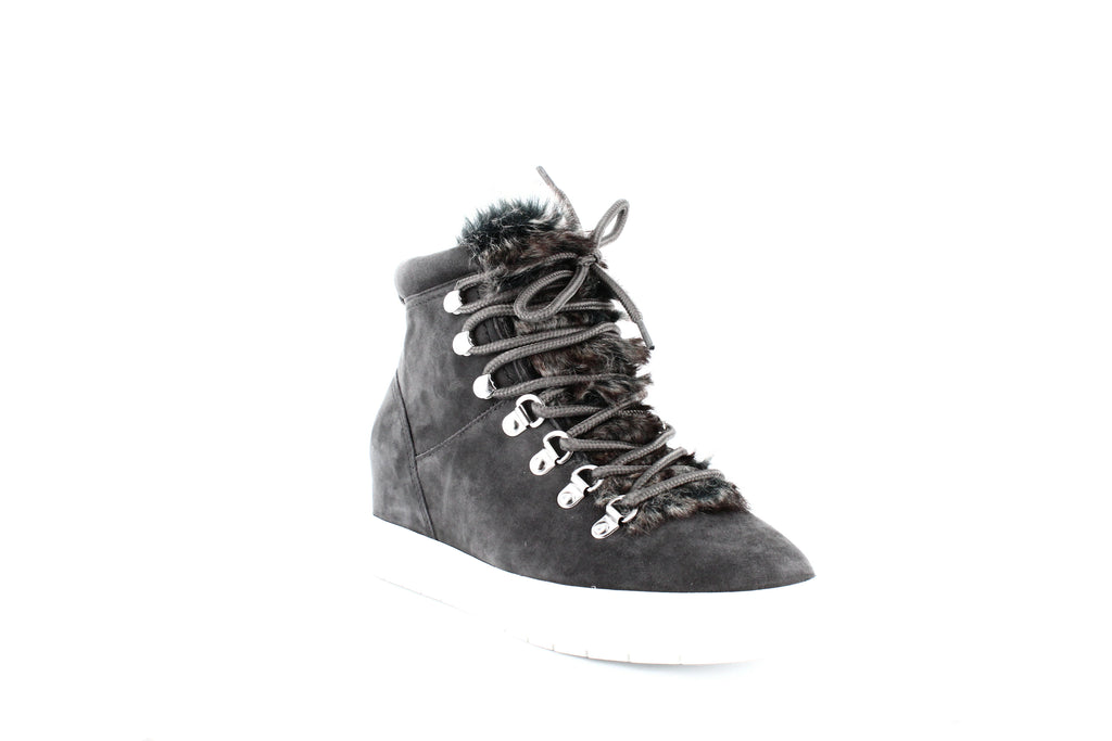 Yieldings Discount Shoes Store's Kalea Lace Up Hiker Sneakers by STEVEN By Steve Madden in Grey Multi