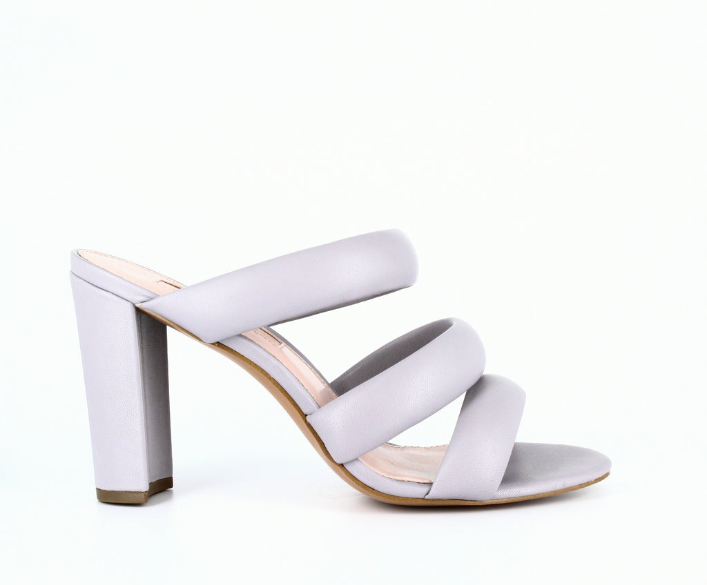 Yieldings Discount Shoes Store's Mara Heeled Slides by Avec Les Filles in Dusty Lilac