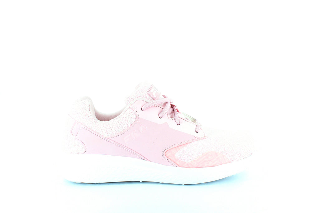 Yieldings Discount Shoes Store's Layers 2.5 Knit Sneakers by Fila in Chalk Pink/White