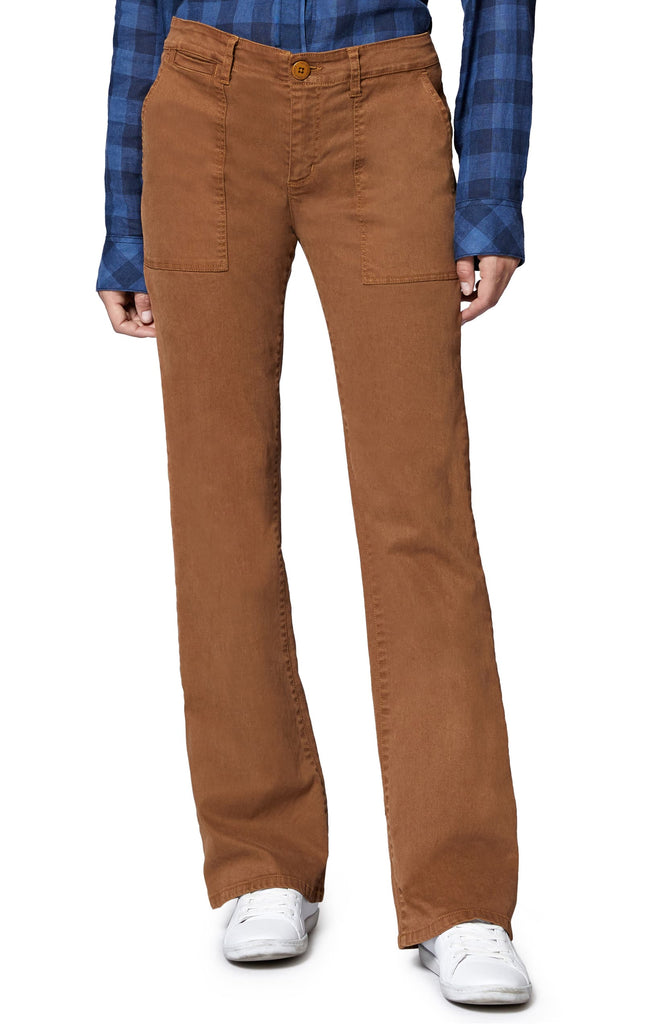 Yieldings Discount Clothing Store's Bootcut Chino Pants by Sanctuary in Caramel