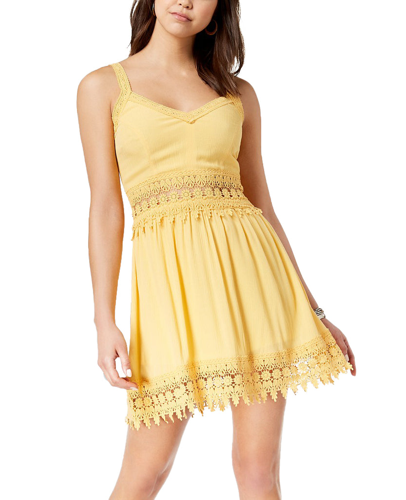 Yieldings Discount Clothing Store's Crochet-Trim Dress by American Rag Cie in Cornsilk