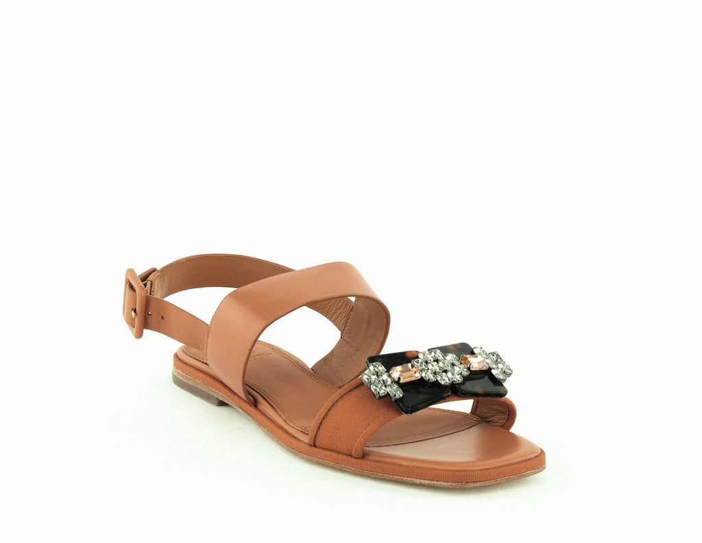Tory Burch | Delaney Embellished Leather Sandals