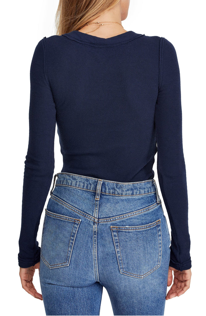 Yieldings Discount Clothing Store's Call Me Cardi Sweater by Free People in Navy