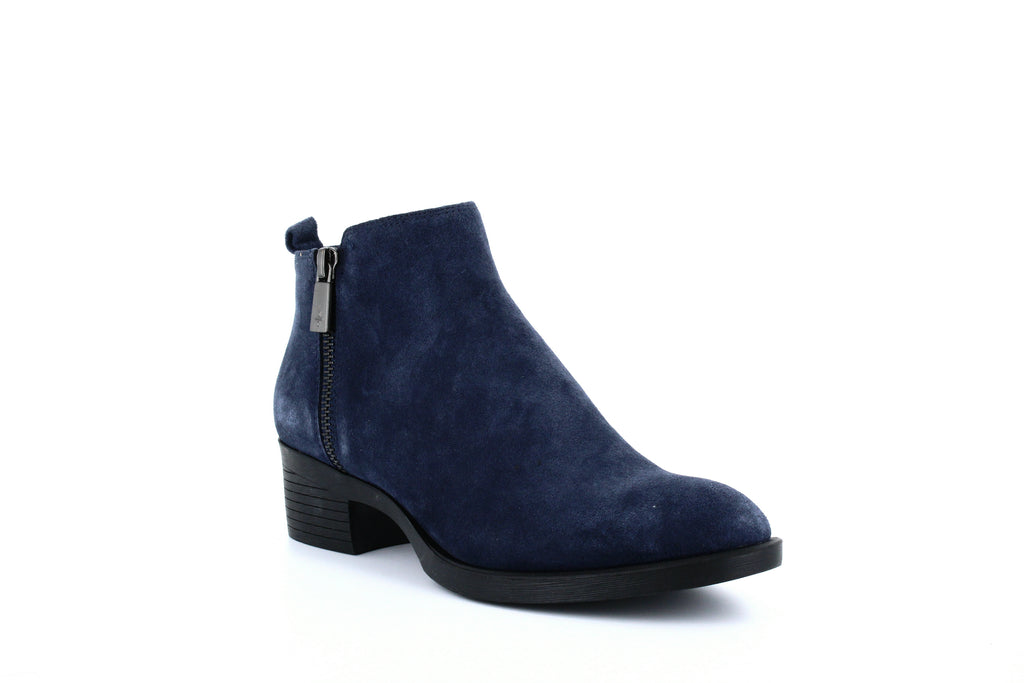 Yieldings Discount Shoes Store's Levon Zip-up Ankle Booties by Kenneth Cole in Navy