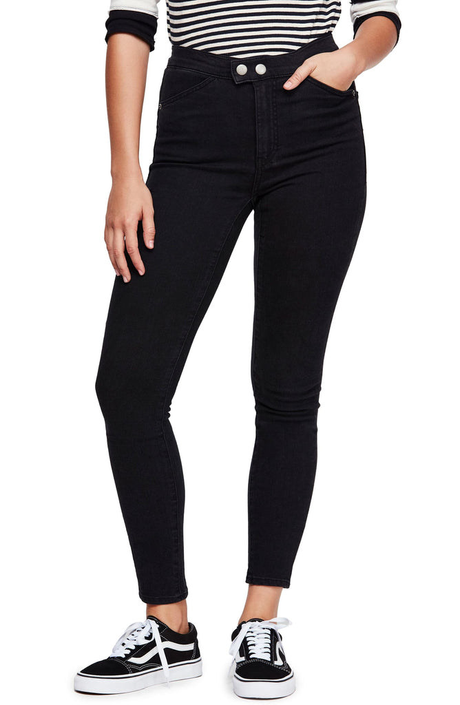 Yieldings Discount Clothing Store's Sweet Jane Skinny Jeans by Free People in Echo Black