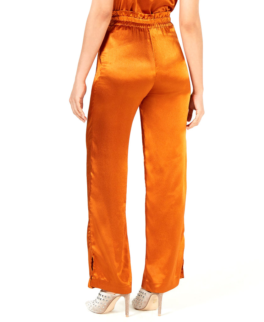 Yieldings Discount Clothing Store's High-Waist Wide-Leg Pants by Heartloom in Copper
