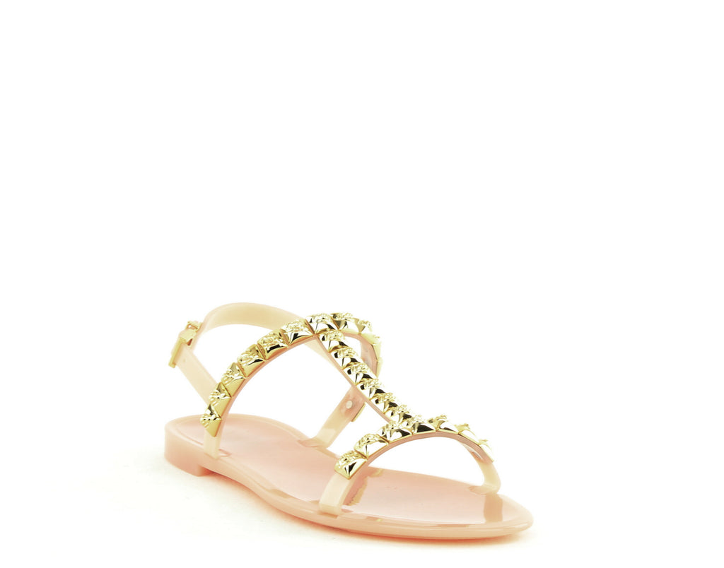 Yieldings Discount Shoes Store's Jelrose Sandals by Stuart Weitzman in Ballet Jelly