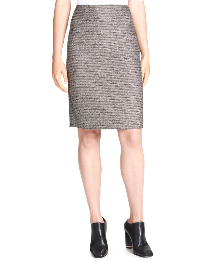 Yieldings Discount Clothing Store's Metallic Pencil Skirt by Calvin Klein in Black/Gold