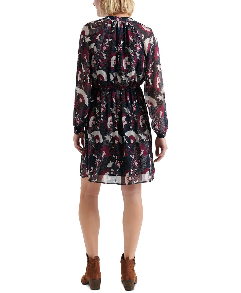 Yieldings Discount Clothing Store's Floral-Print Peasant Dress by Lucky Brand in Blue Multi