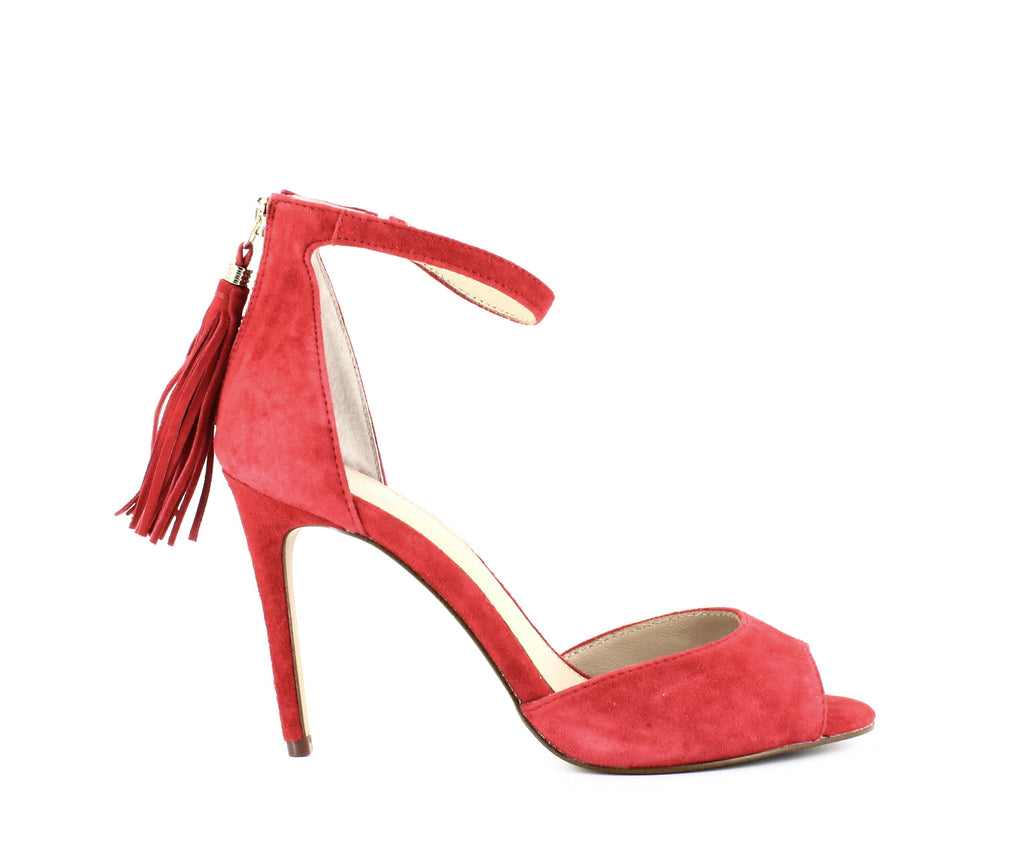 Yieldings Discount Shoes Store's Anna Heeled Sandals by Botkier in Poppy