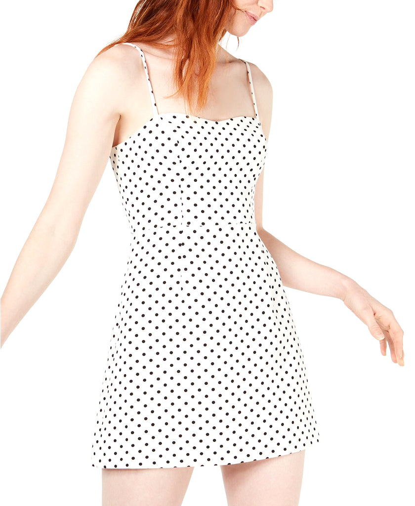 Yieldings Discount Clothing Store's Sweetheart Polka-Dot Mini Dress by French Connection in White/Black