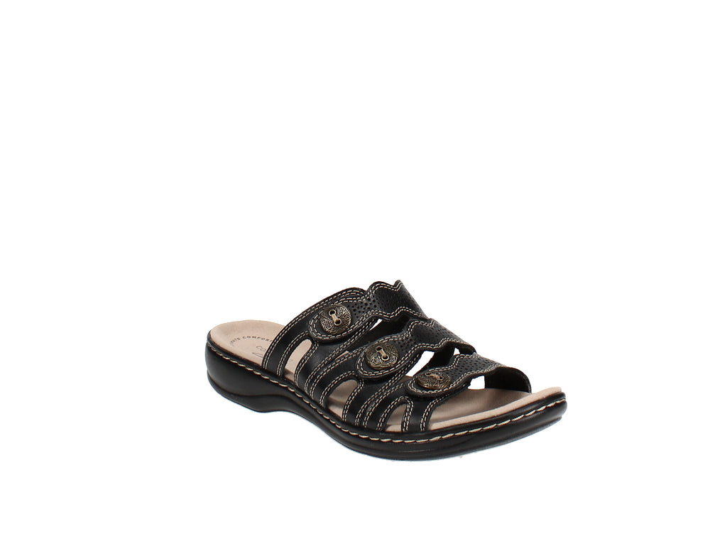 Yieldings Discount Shoes Store's Leisa Grace Sandals by Clarks in Black
