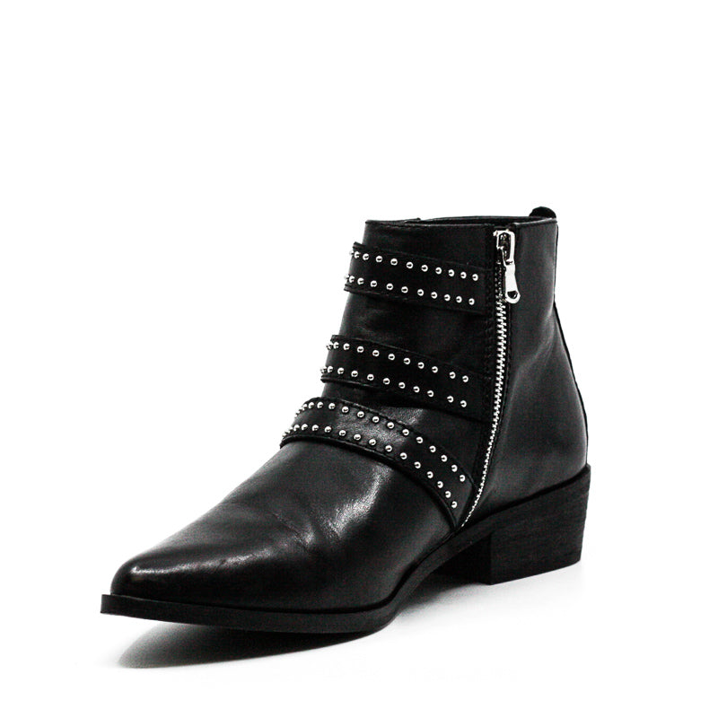 Aqua | Blane Block Heel Leather Boots