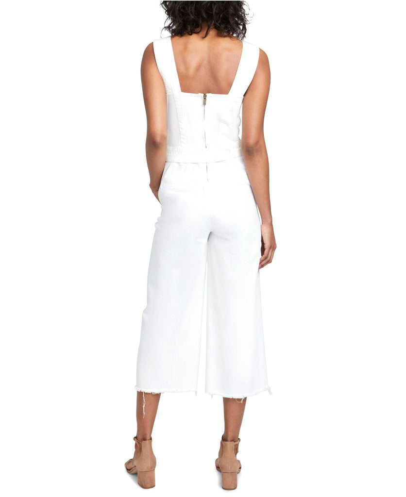 RACHEL Rachel Roy | Cotton Cropped Denim Jumpsuit