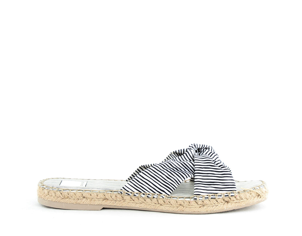 Yieldings Discount Shoes Store's Benicia Slides by Dolce Vita in White Stripe