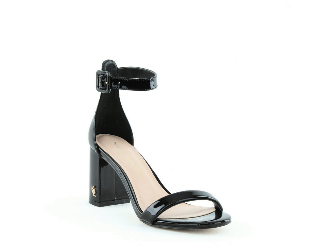 Yieldings Discount Shoes Store's Langley Ankle Strap Sandals by Kurt Geiger in Black