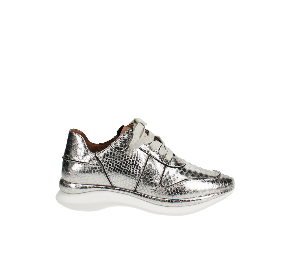 Yieldings Discount Shoes Store's Raina Wave Sneaker by Gentle Souls By Kenneth Cole in Silver