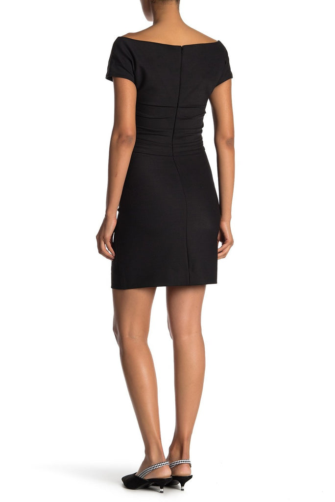 Yieldings Discount Clothing Store's Off Shoulder Wool Dress by Helmut Lang in Black