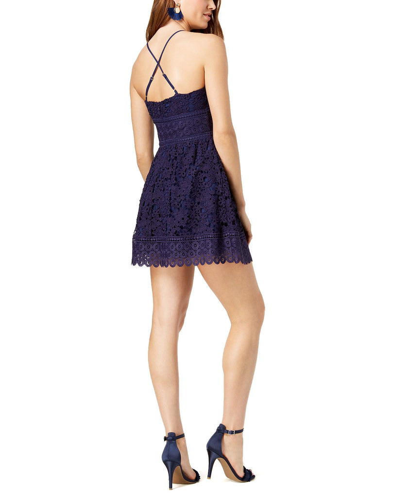 Yieldings Discount Clothing Store's Lace Fit & Flare Dress by J.O.A. in Plum