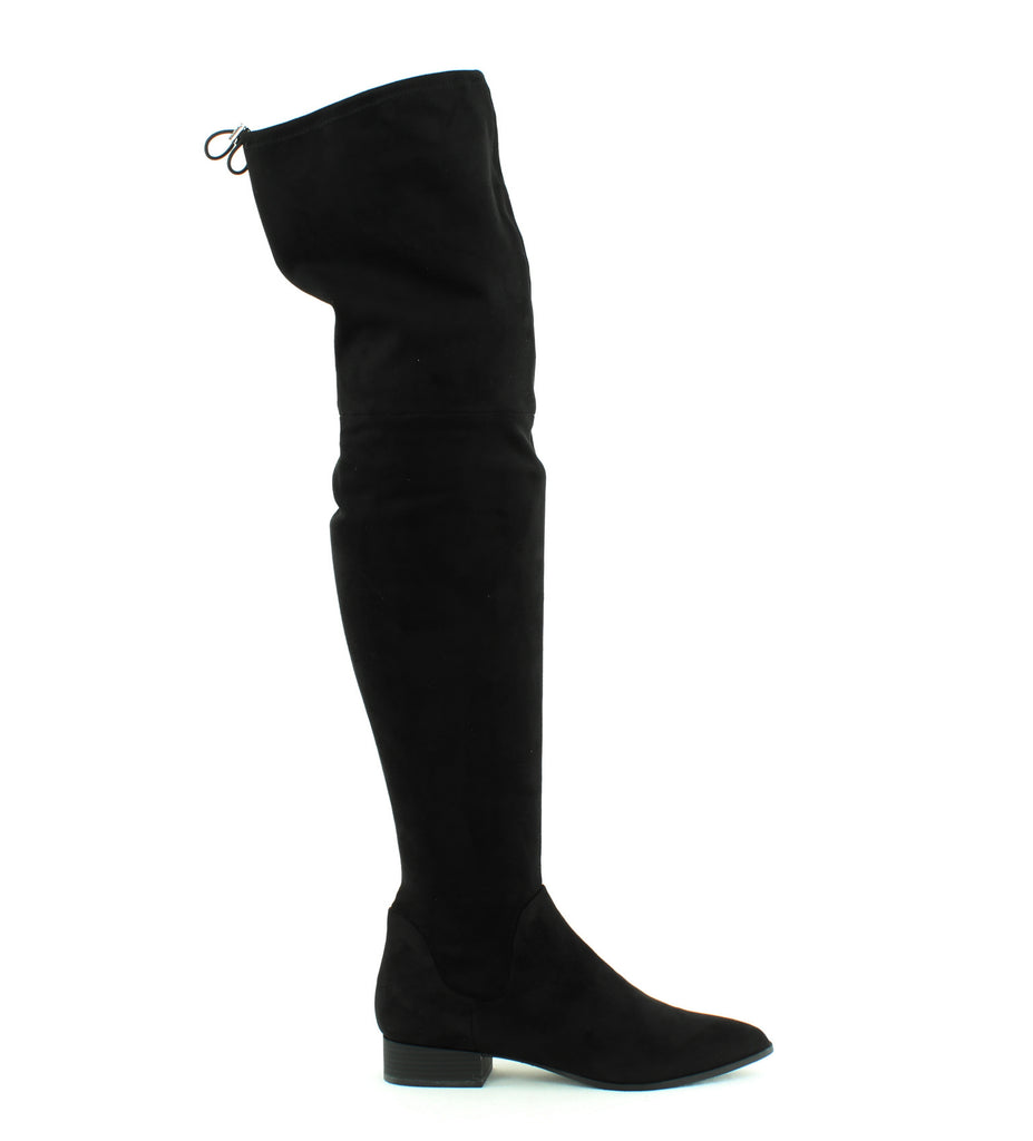 Yieldings Discount Shoes Store's Tyra Over-The-Knee Boots by DKNY in Black