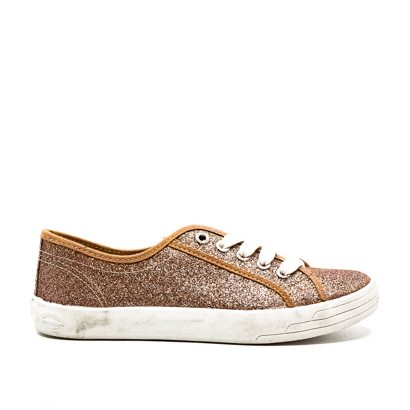 Yieldings Discount Shoes Store's Dane Sneakers by Bebe Sport in Rose Gold