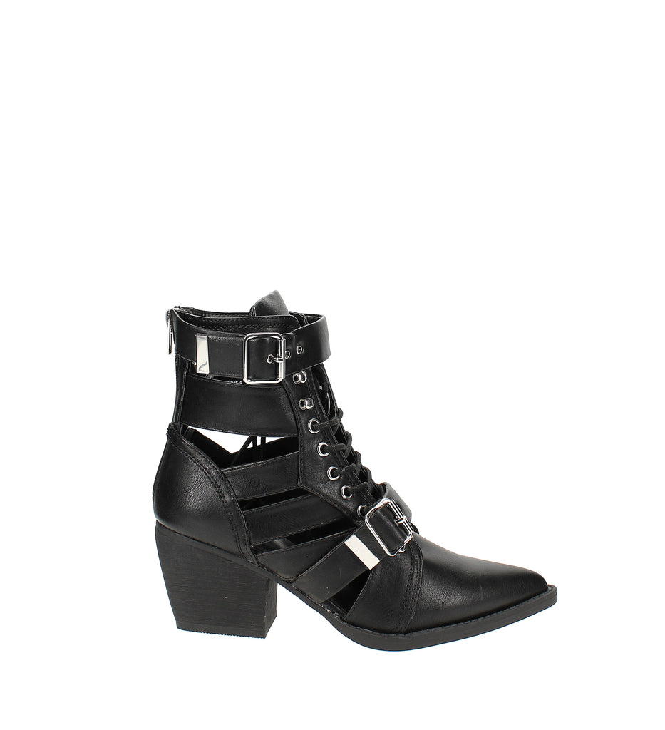 Yieldings Discount Shoes Store's Bucklie Booties by Zigi Soho in Black