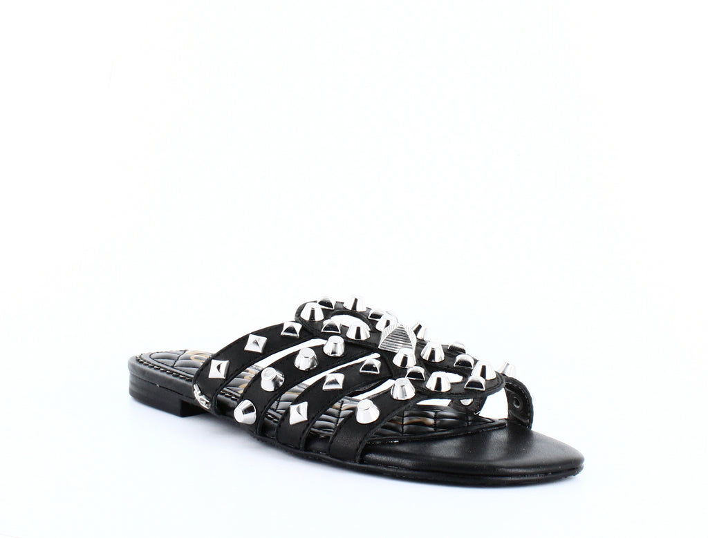 Yieldings Discount Shoes Store's Beatris Slide Sandals by Sam Edelman in Black