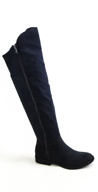 Yieldings Discount Shoes Store's Hadleyy Flat Boots by Style & Co in Navy