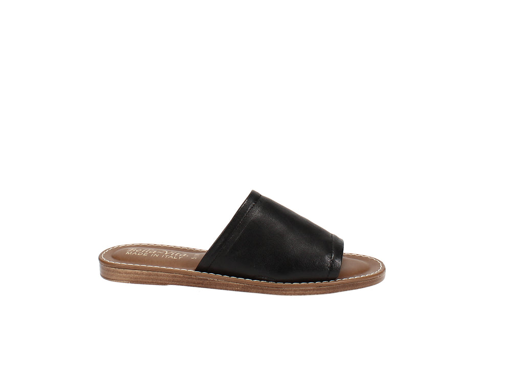 Yieldings Discount Shoes Store's Ros-Italy Slide Sandals by Bella Vita in Black