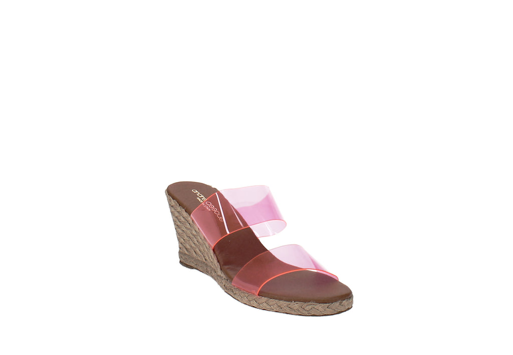 Yieldings Discount Shoes Store's Andrea Wedges by Andre Assous in Pink