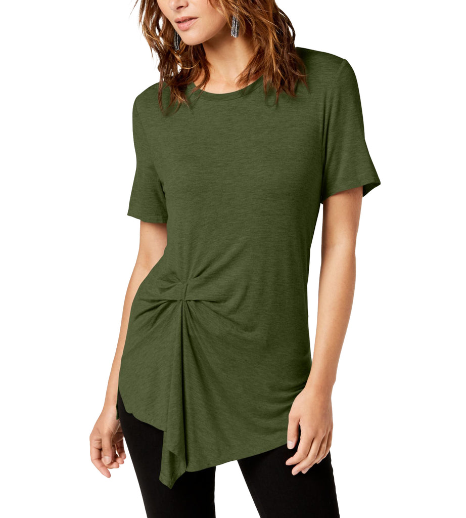 Yieldings Discount Clothing Store's Twist-Front Top by RACHEL Rachel Roy in Army