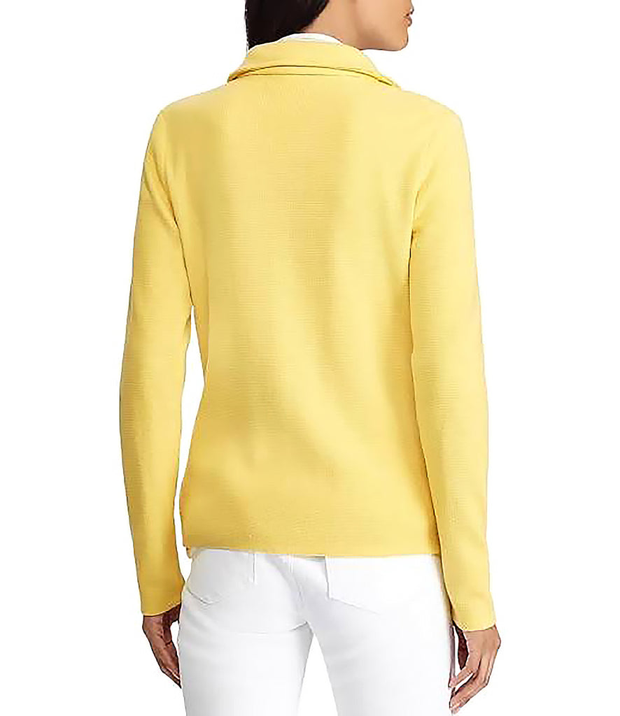 Yieldings Discount Clothing Store's Knit Moto Jacket by Lauren by Ralph Lauren in Yellow