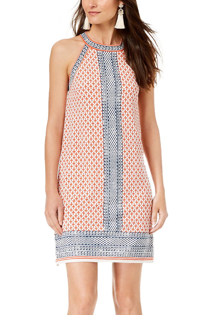 Yieldings Discount Clothing Store's Printed Halter-Neck Dress by Maison Jules in Paisley Bands
