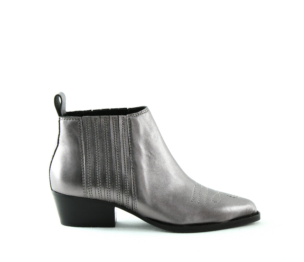 Yieldings Discount Shoes Store's Texas Leather Western Booties by Botkier in Gunmetal